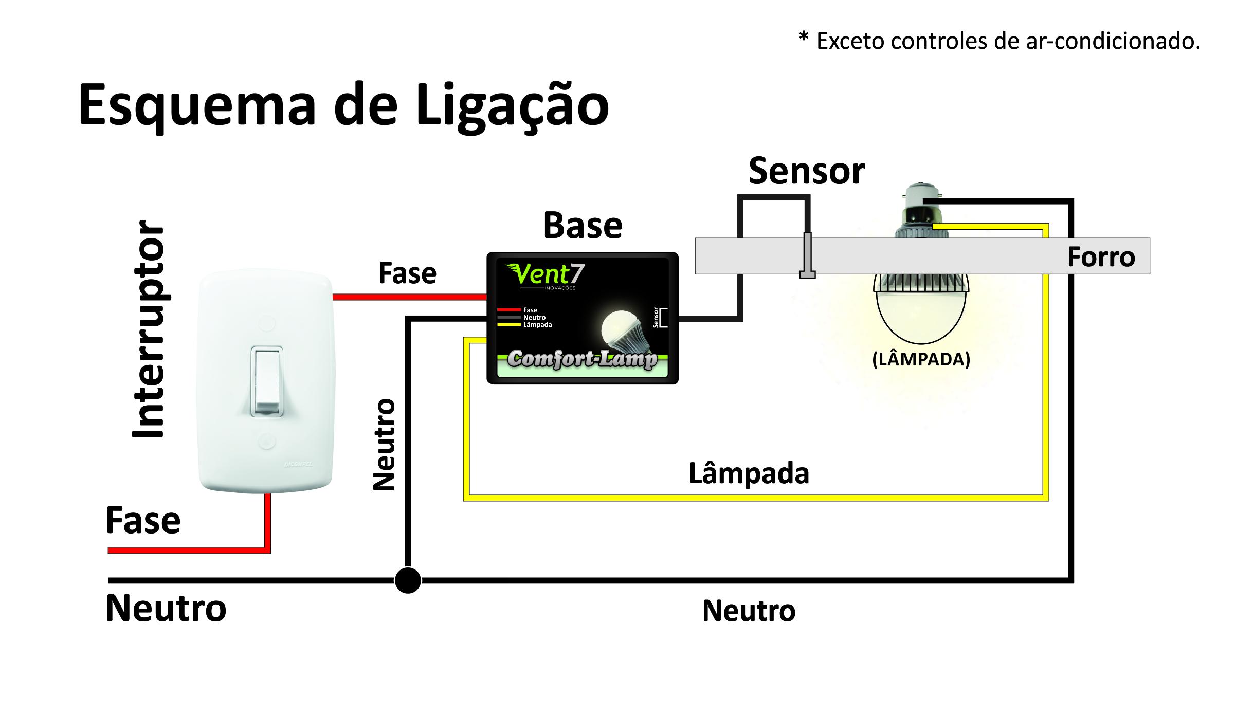 Esquema Eletrico Do Comfort Lamp Casadaptada