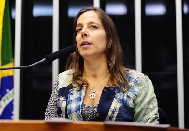 A deputada Mara Gabrilli (PSDB-SP) discursa na Câmara dos Deputados (Foto: Gustavo Lima/Agência Câmara)