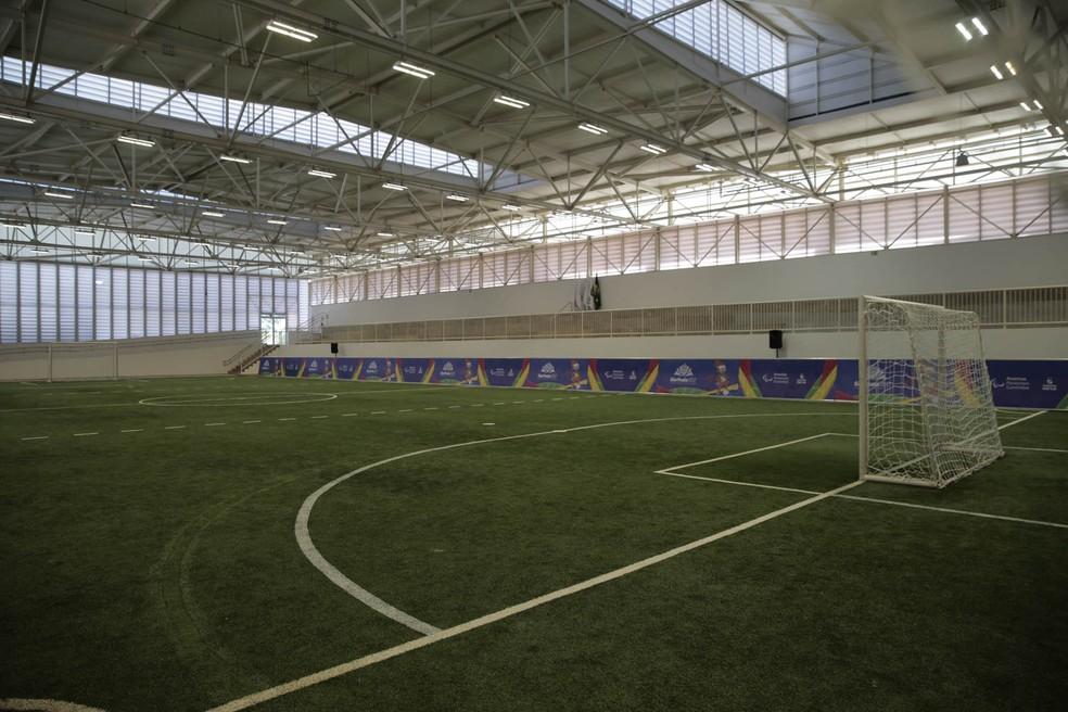 Campo de futebol de 5 é um dos legados paralímpicos (Foto: Leandro Martins/MPIX/CPB)