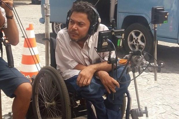 Jorge Pereira no set. Foto: Acervo pessoal/divulgação