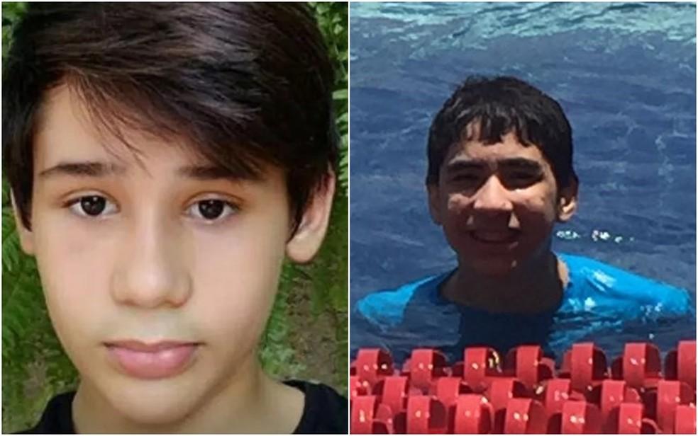 João Pedro Calembo (à esquerda) e João Vitor Gomes foram mortos a tiros em escola (Foto: Reprodução/TV Anhanguera)