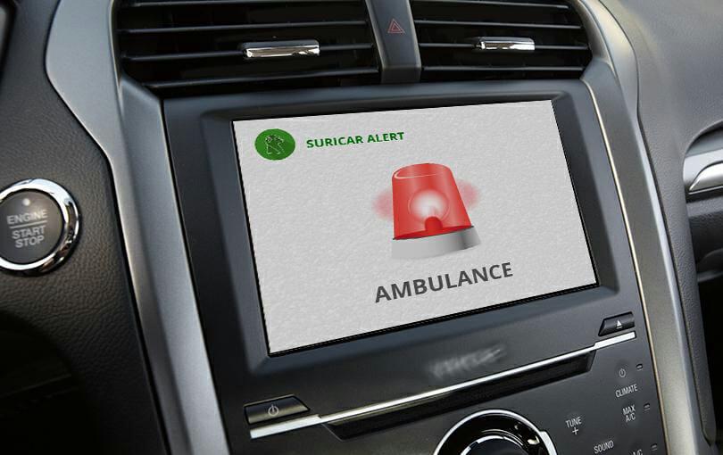 Descrição da imagem #PraTodosVerem: Imagem no formato retangular, na horizontal. Parte de um painel de carro, com um celular, em que o aplicativo de apoio está em uso. Fim da descrição.