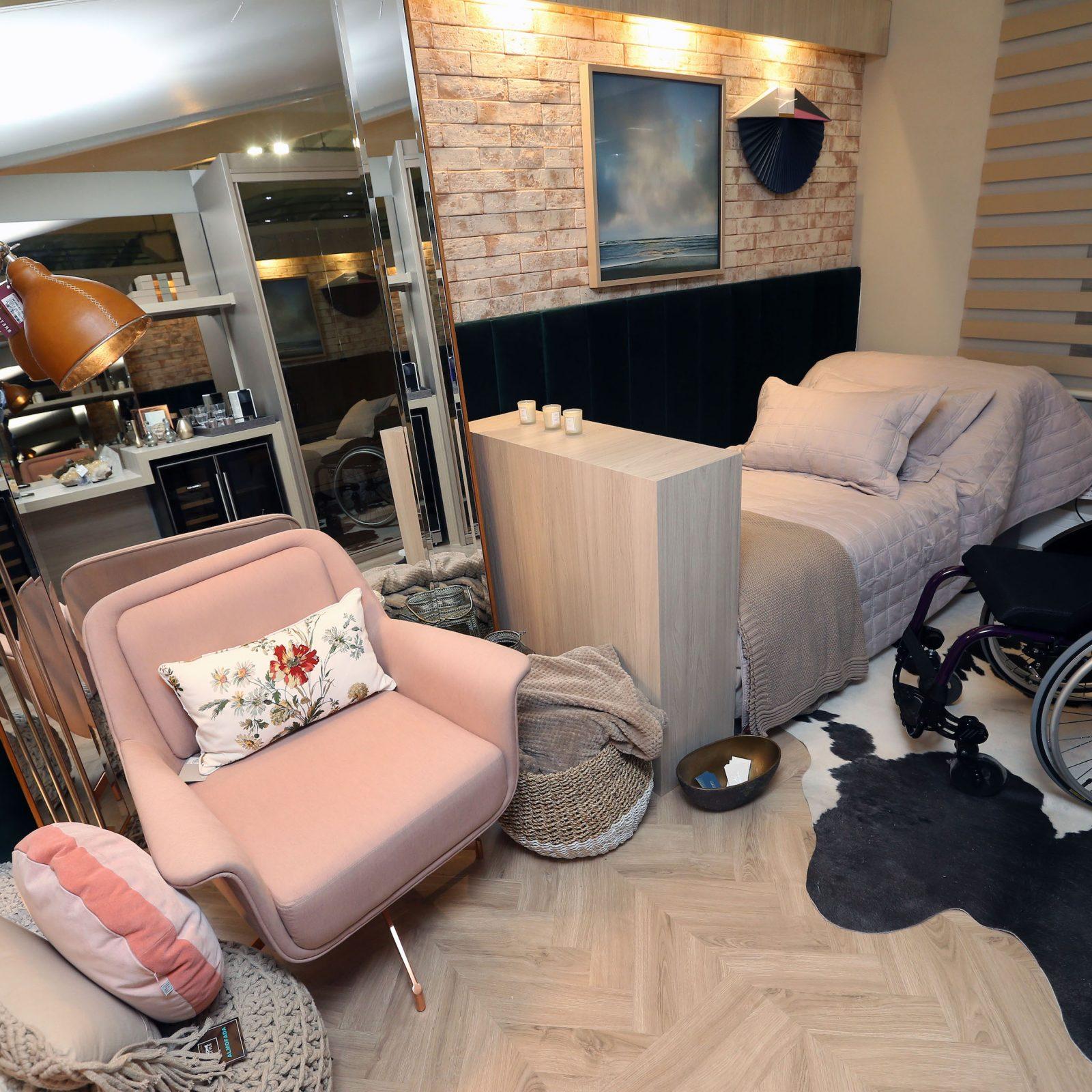 Mostra Lar Center de Arquitetura e Design Universal – Ambiente Dormitório de solteiro – Profissional Alessandra Canteli
