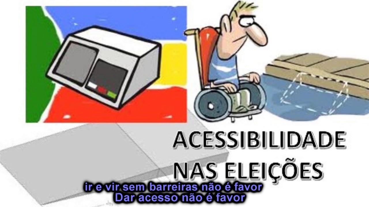 Resultado de imagem para Acessibilidade nas eleições