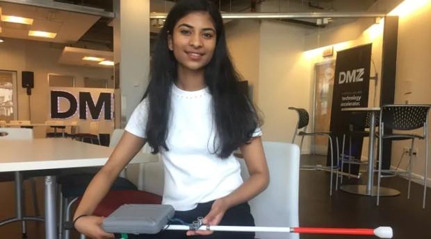 A jovem Riya Karumanchi, de 15 anos (Foto: Divulgação)